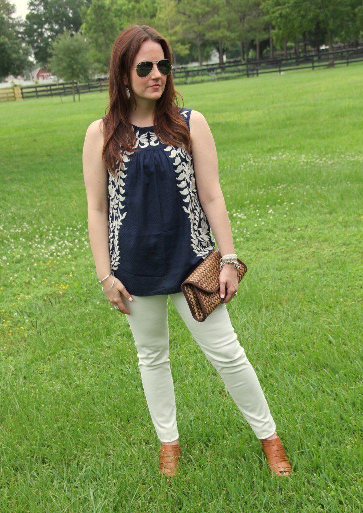 4th of July Outfit - Navy and White | Lady in Violet