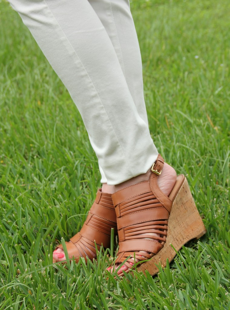 Cognac Brown Wedges | Lady in Violet