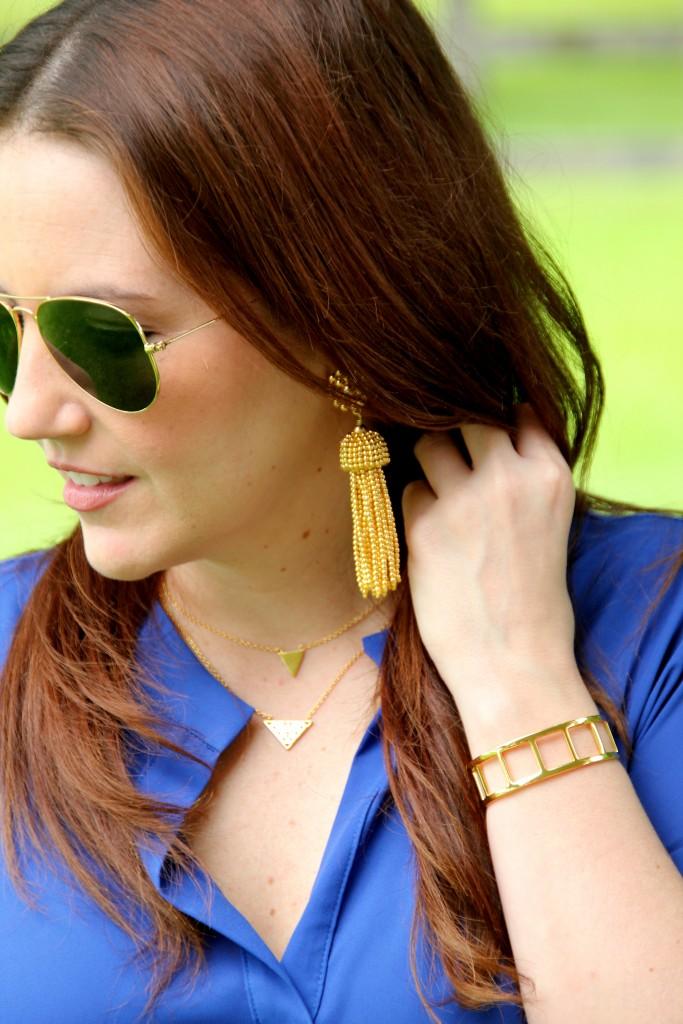 Lisi Lerch Tassel Earrings | Lady in Violet