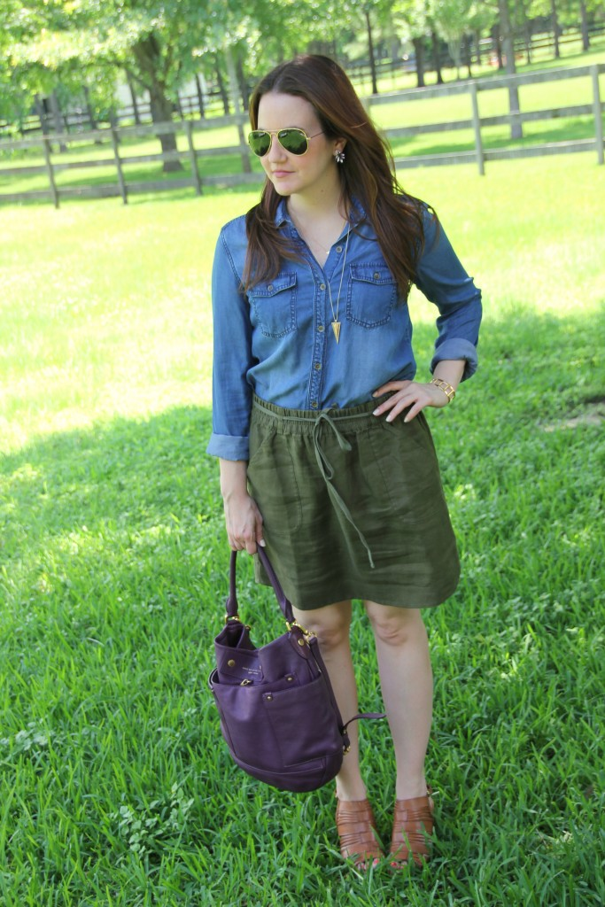 Casual Outfit Idea | Lady in Violet