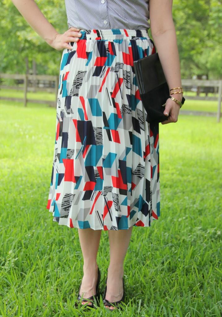 Printed Midi Skirt | Lady in Violet