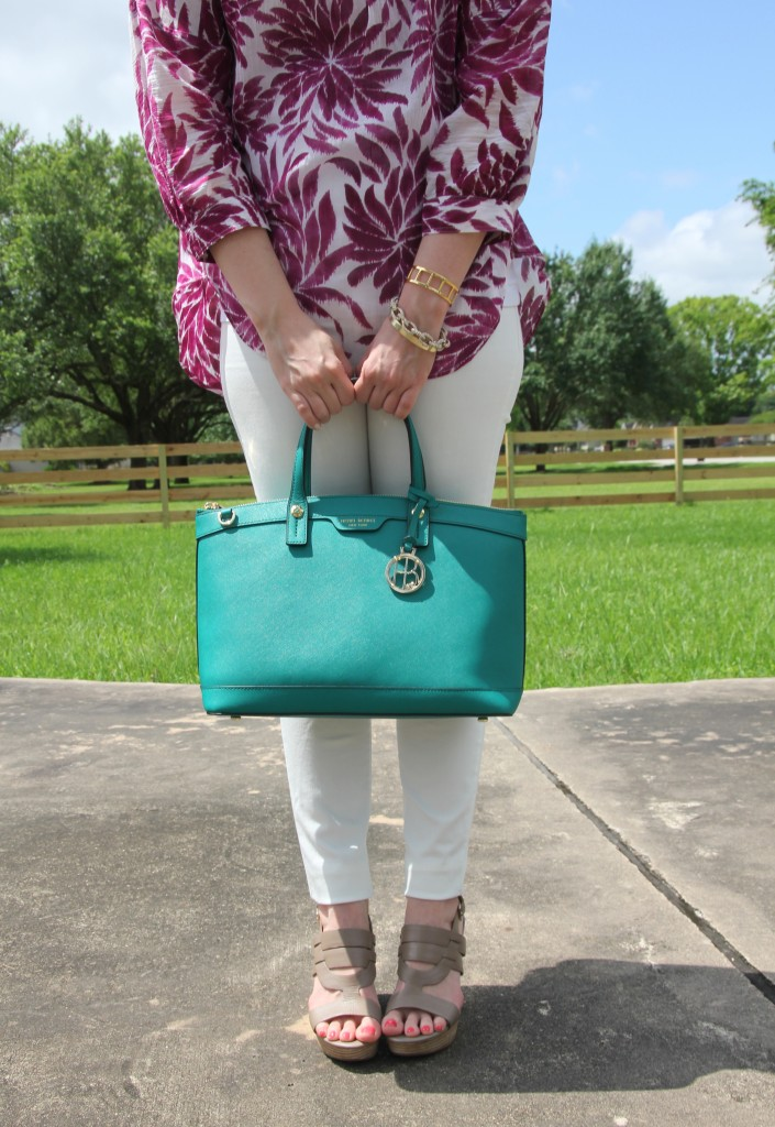 Teal Green Satchel | Lady in Violet