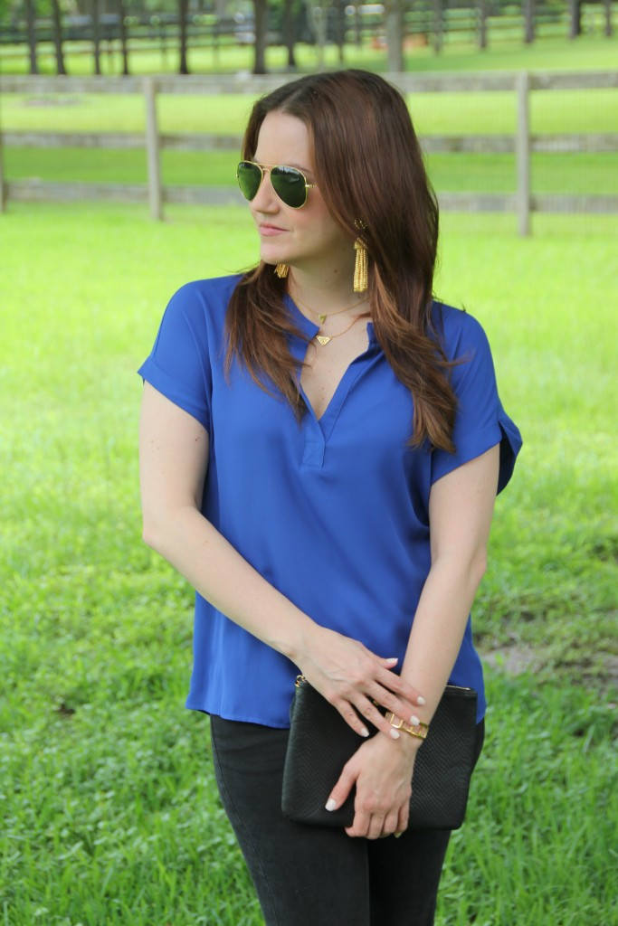 Dressing up a casual outfit | Lady in Violet