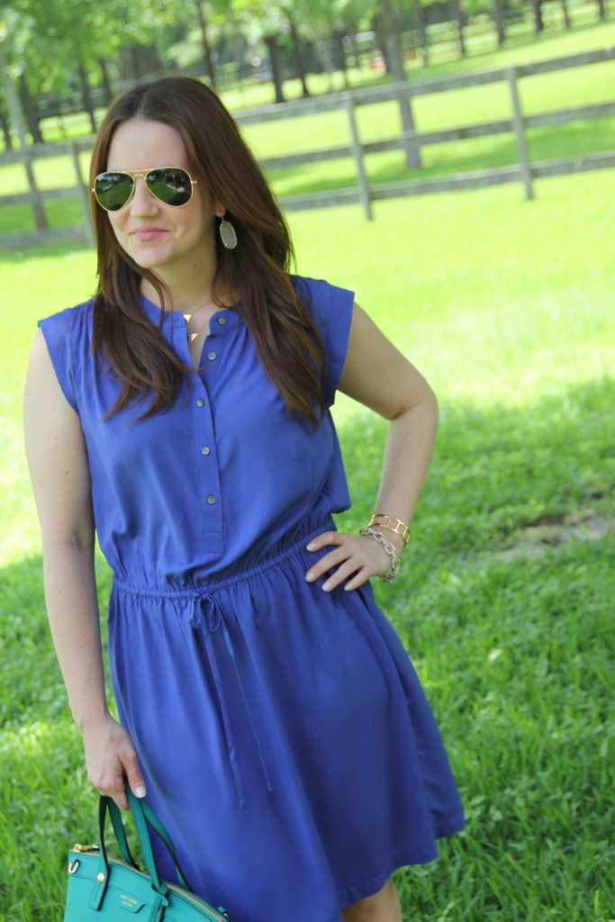 Summer Style - Blue Dress and Wedges | Lady in Violet