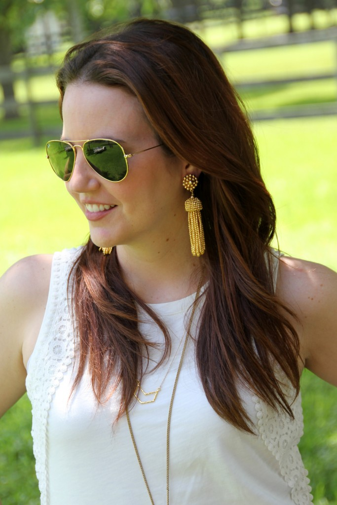 Gold Tassel Earrings | Lady in Violet