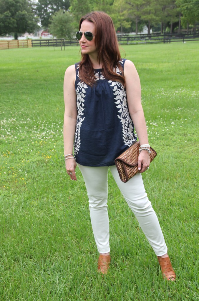 Summer Outfit perfect for 4th of July Party | Lady in Violet