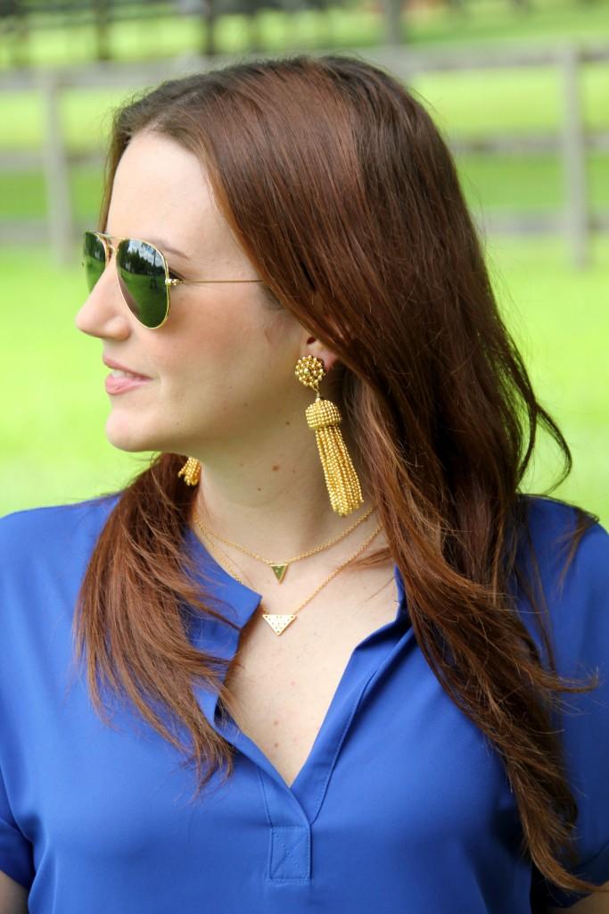 Tassel Earrings | Lady in Violet