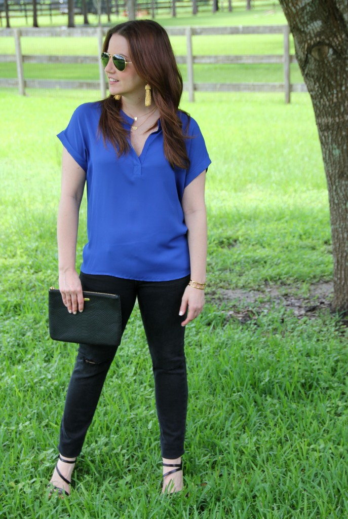 Weekend Look - Dressing up a casual outfit | Lady in Violet