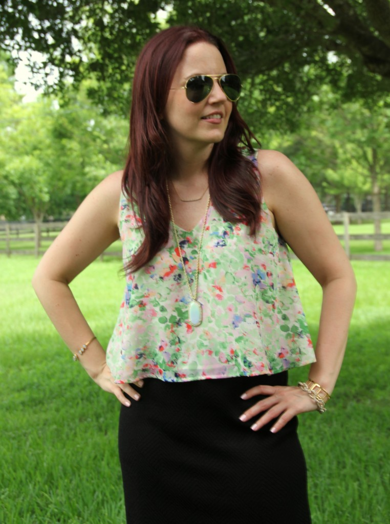 Floral Blouse for Work | Lady in Violet
