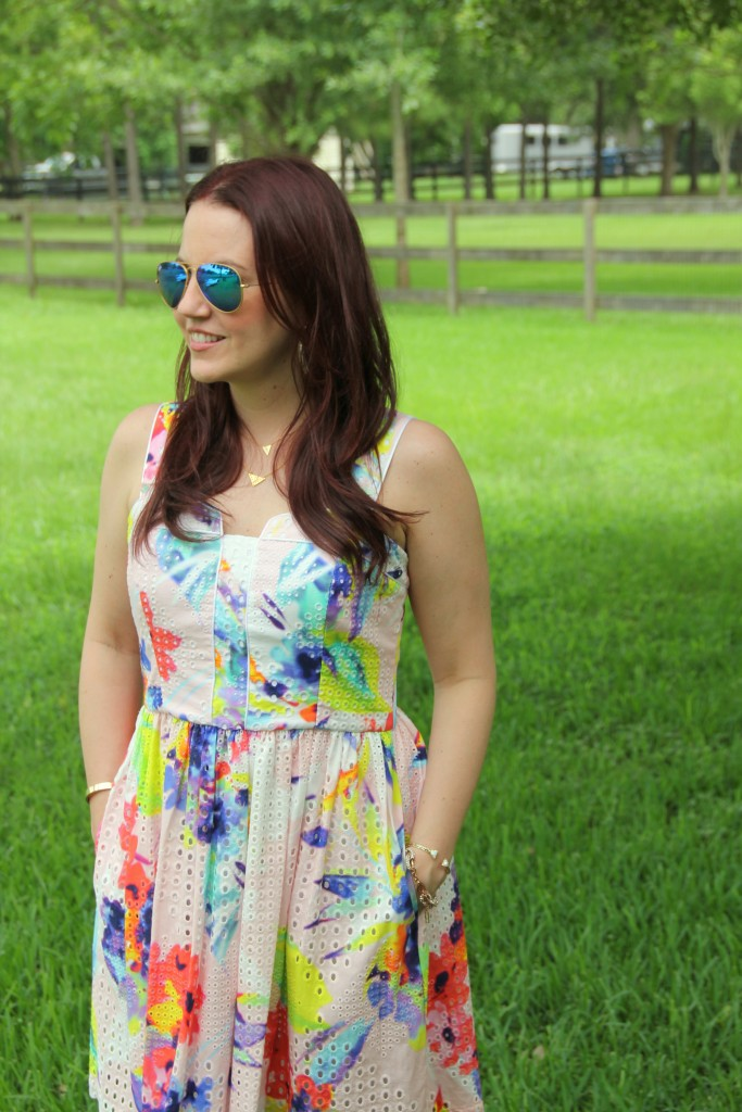 Floral Dress with some southern charm | Lady in Violet