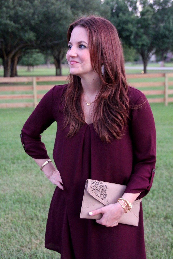 Nordstrom Dress in Marsala Color of the year | Lady in Violet