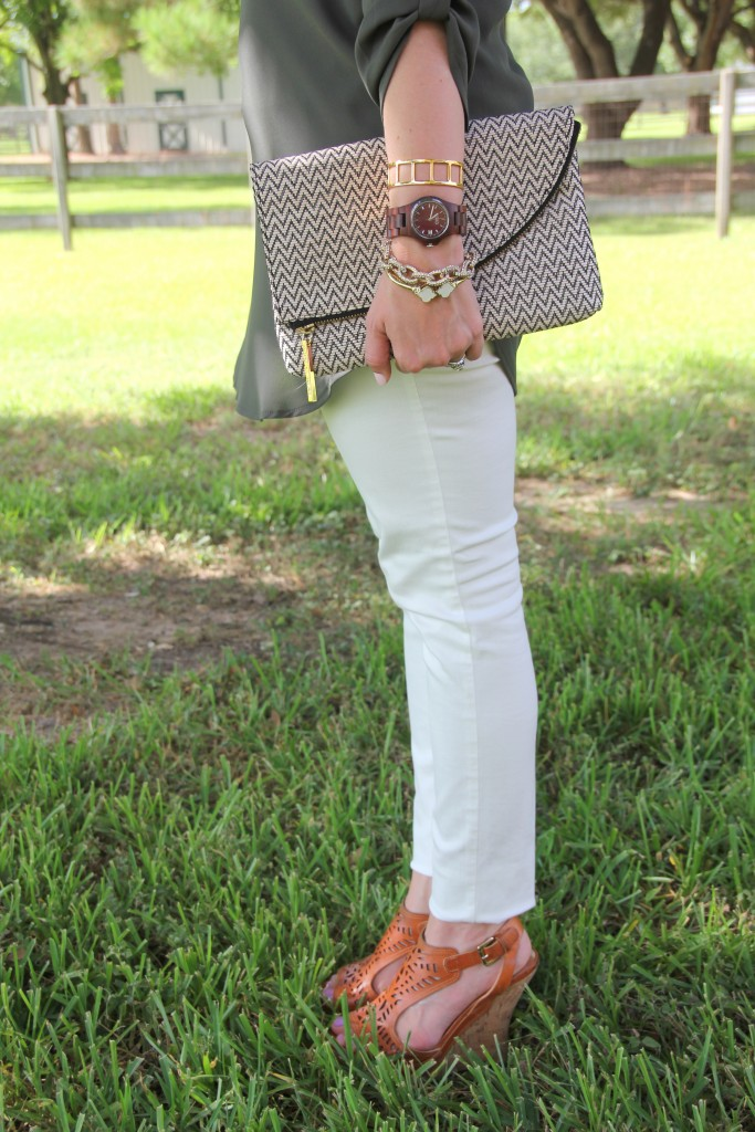 White Skinny Jeans with Wedges | Lady in Violet