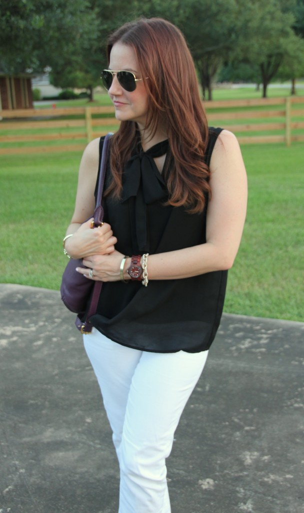 Casual White Denim Outfit | Lady in Violet #jordwatch