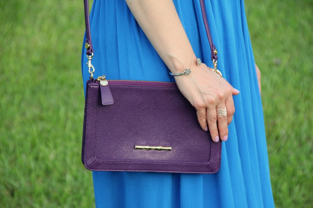 Elaine Turner Purple Crossbody Purse | Lady in Violet