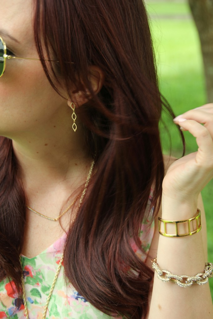 Gorjana and Baublebar Gold Jewelry | Lady in Violet