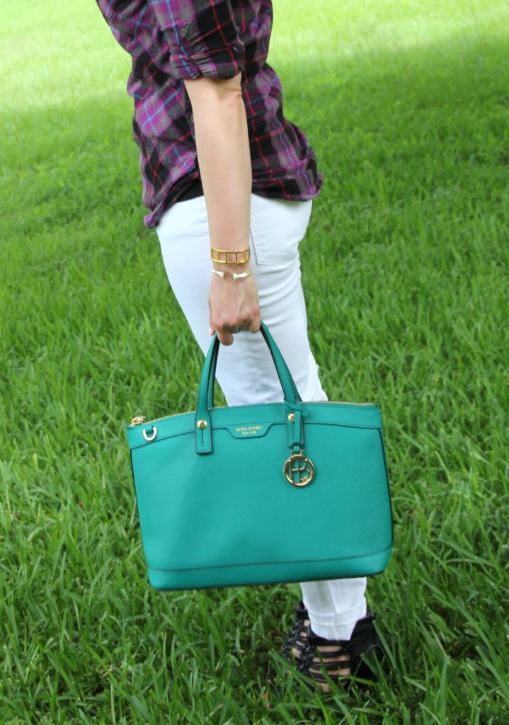 Henri Bendel Satchel | Lady in Violet