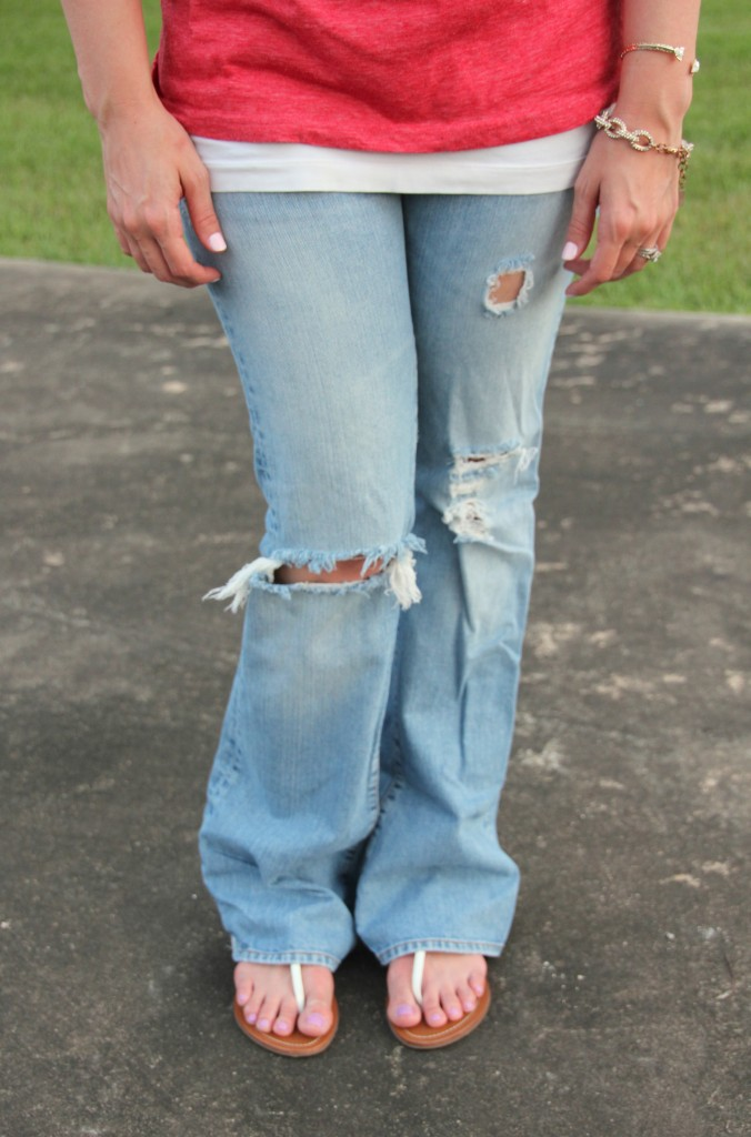 Lucky Brand Distressed jeans | Lady in violet