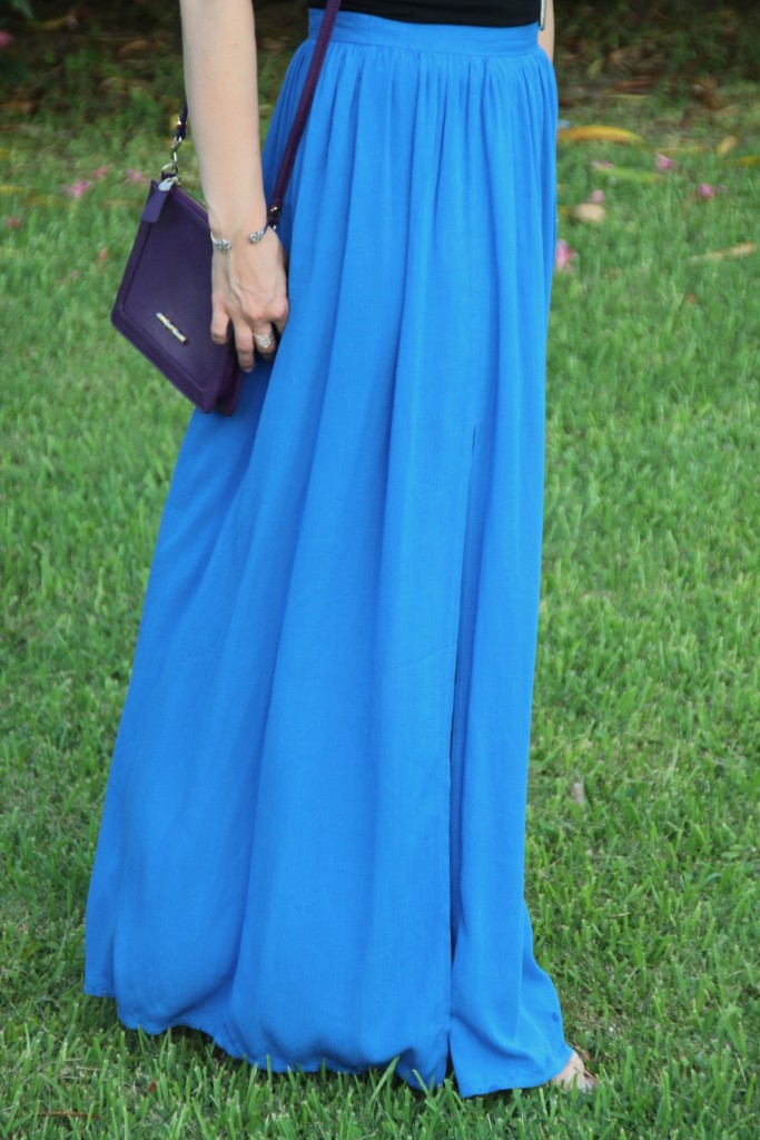 Perfect Blue Maxi Skirt for Summer | Lady in Violet