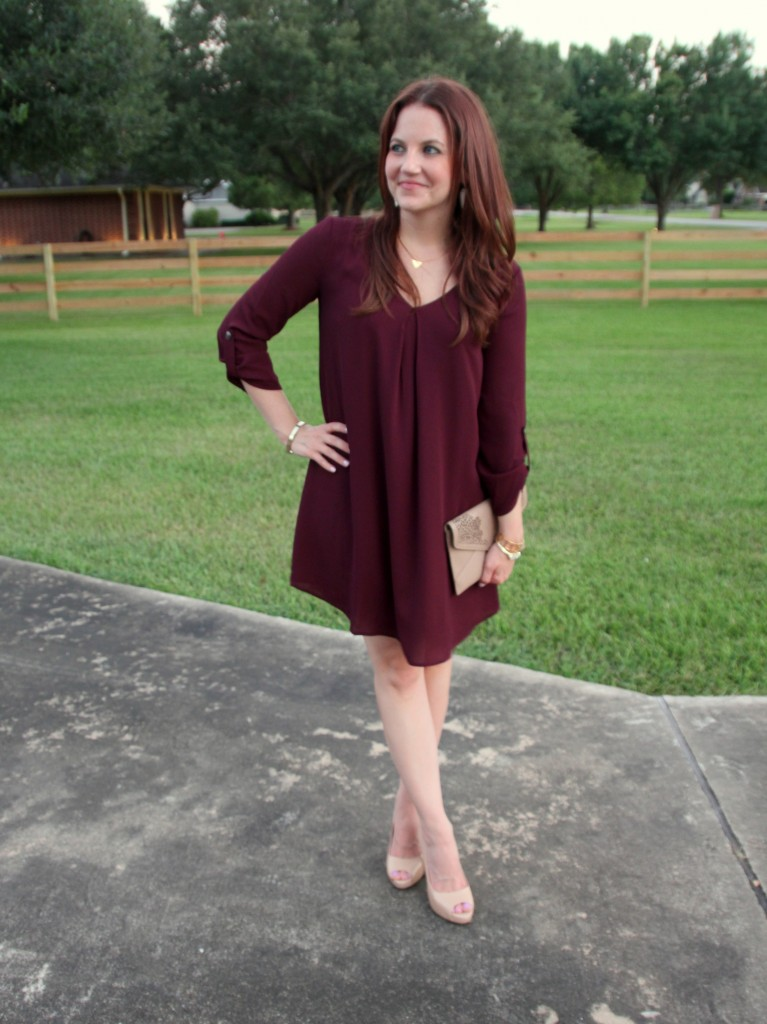 Fall Outfit Idea for a Work Party | Lady in Violet