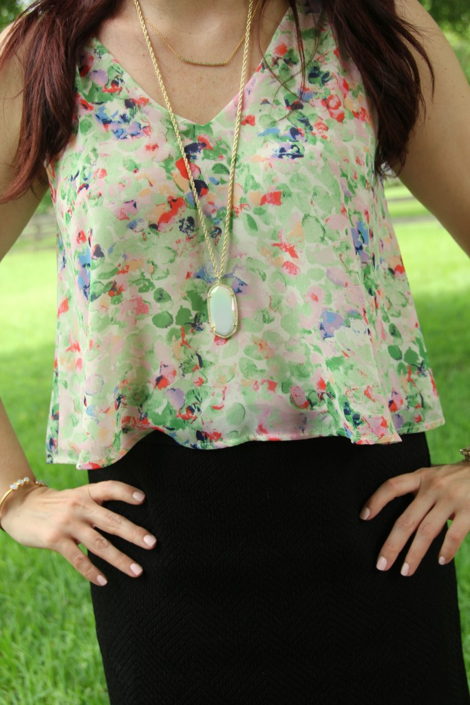 Floral Top for Summer | Lady in Violet