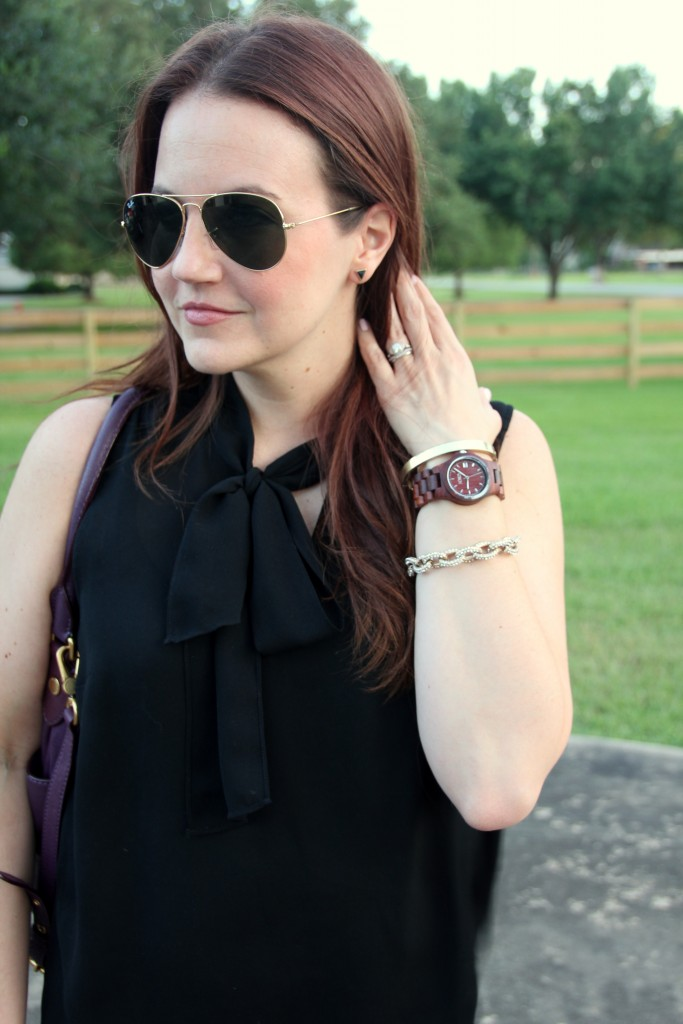 Adding a Wood Watch to your arm stack | Lady in Violet #jordwatch
