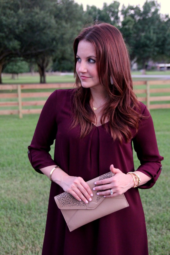 Fall Outfit Idea Maroon | Lady in Violet