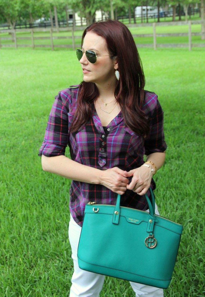 Plaid Shirt | Lady in Violet