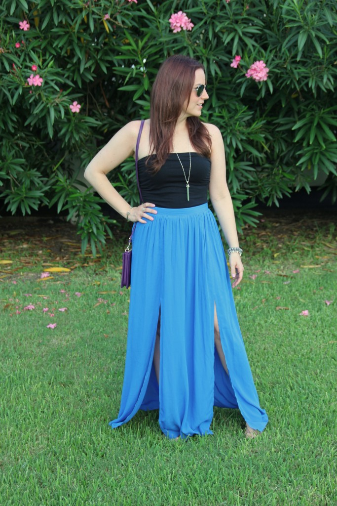 Summer Outfit Idea - Tube Top and Maxi Skirt | Lady in Violet