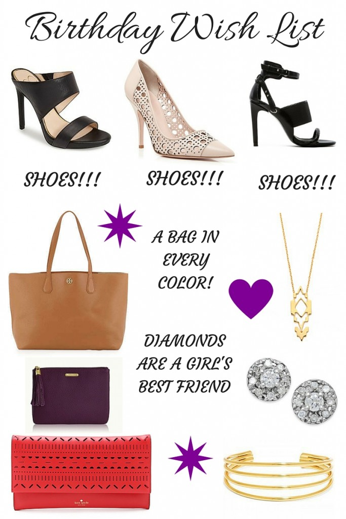 Birthday Wish List | Lady in Violet