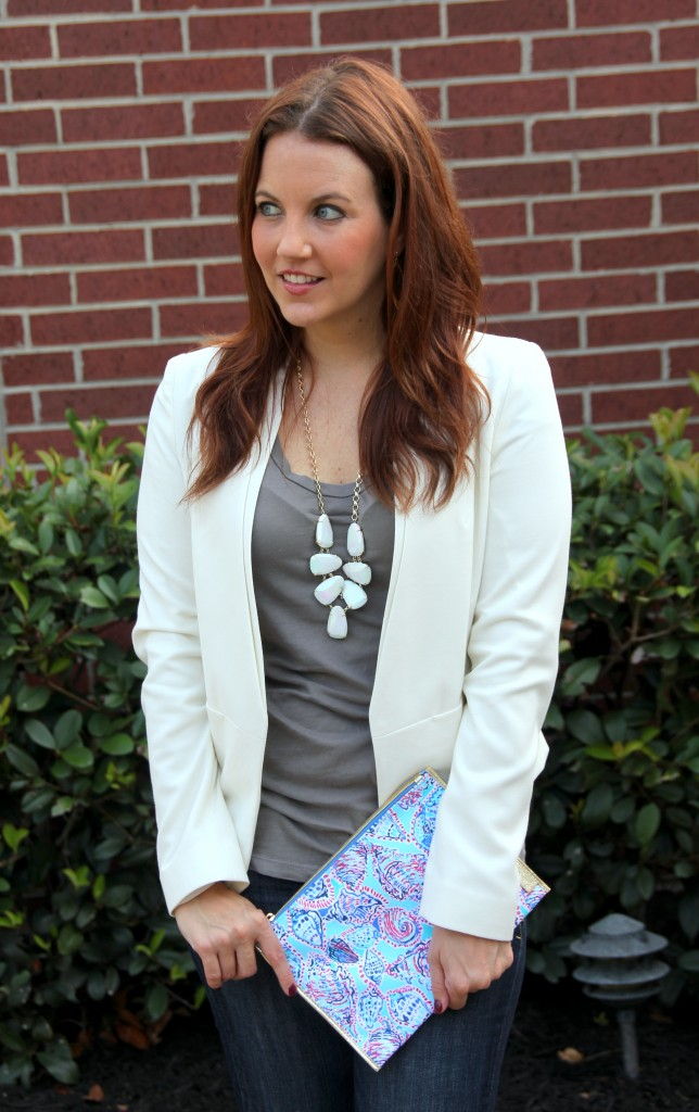 Dressed Up Casual Outfit with Blazer Jacket | Lady in Violet