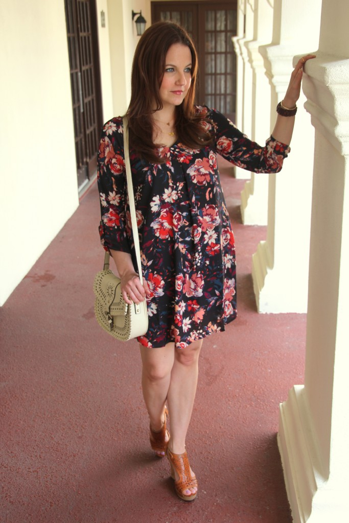 Fall Florals Dress for Summer | Lady in Violet
