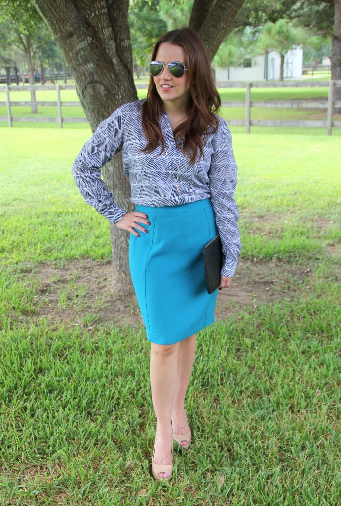Fall Work Outfit Idea | Lady in Violet