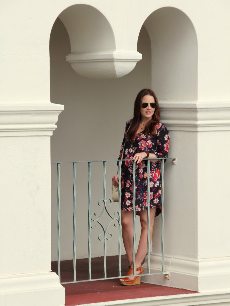Summer Outfit with Floral Print | Lady in Violet