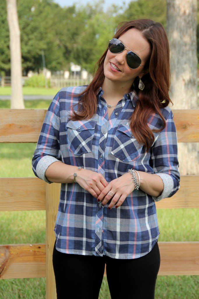 Fall Must Have- Check or Plaid Shirt | Lady in Violet
