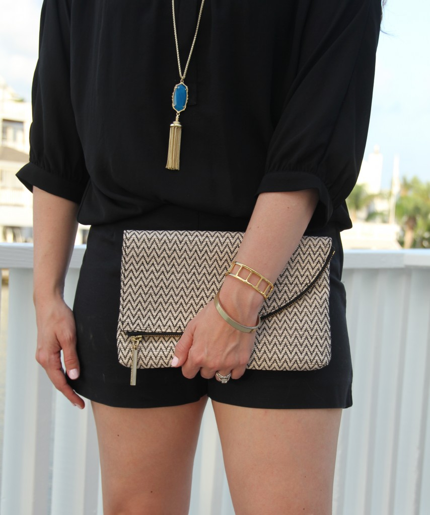 Kendra Scott Necklace and Elaine Turner Clutch | Lady in Violet