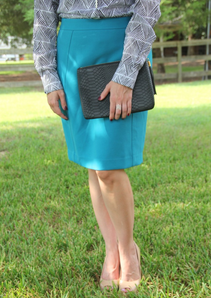 Perfect Pencil Skirt in Blue | Lady in Violet