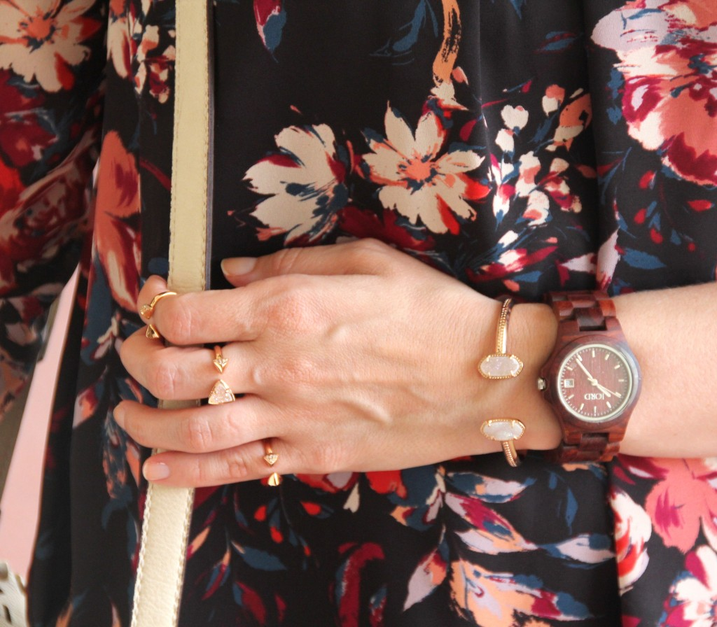 Kendra Scott Rose Gold Jewelry with Jord Watch | Lady in Violet