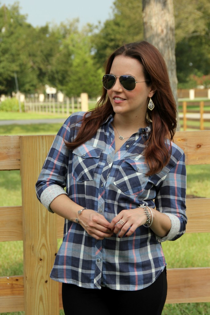 Nordstrom Hinge Check Shirt | Lady in Violet