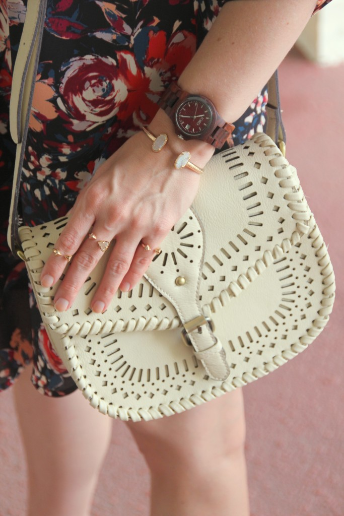 Crossbody Bag with Rose Gold Jewelry | Lady in Violet