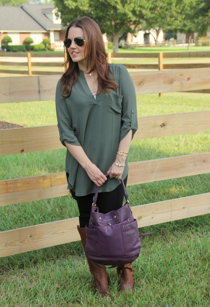 Fall Fashion Outfit | Lady in Violet