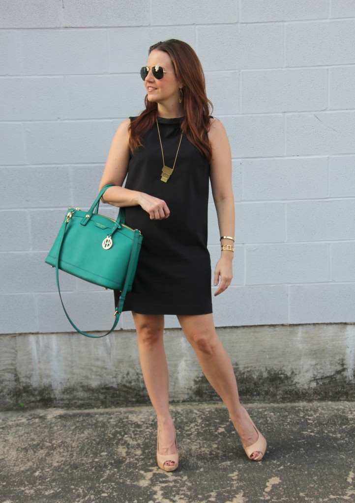 Office Outfit - Black Shift Dress | Lady in Violet