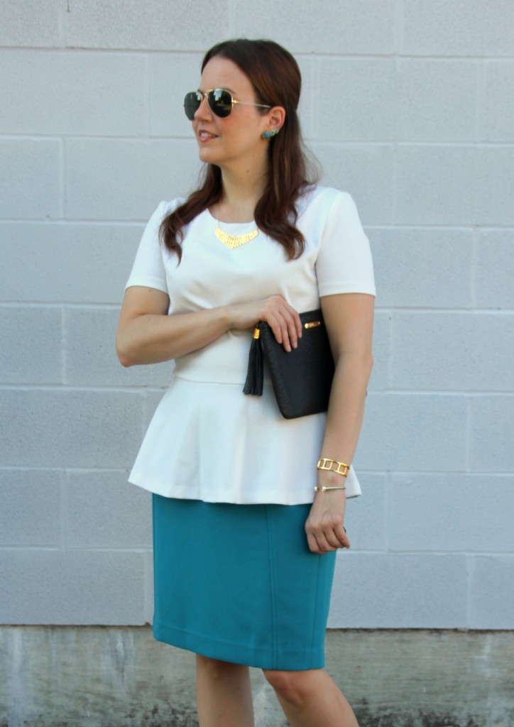 Peplum Tops and Pencil Skirts for Work | Lady in Violet