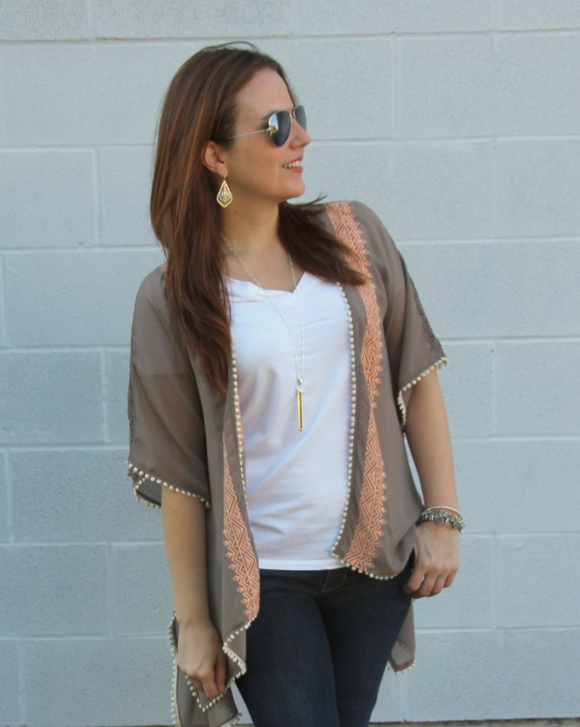 How to Wear a Kimono in Fall | Lady in Violet