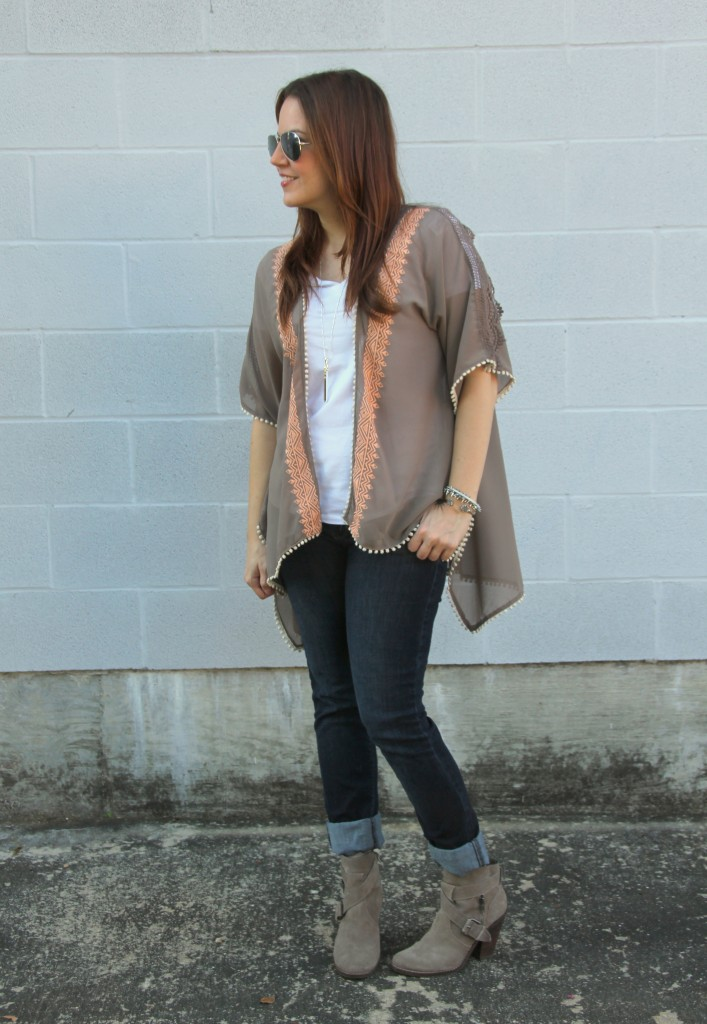 How to Style a Kimono for Fall | Lady in Violet