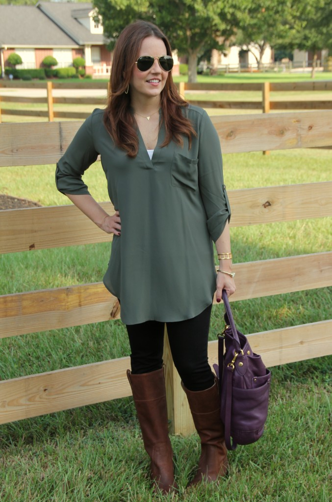 Tunic, Skinny Jeans for Fall Fashion | Lady in Violet