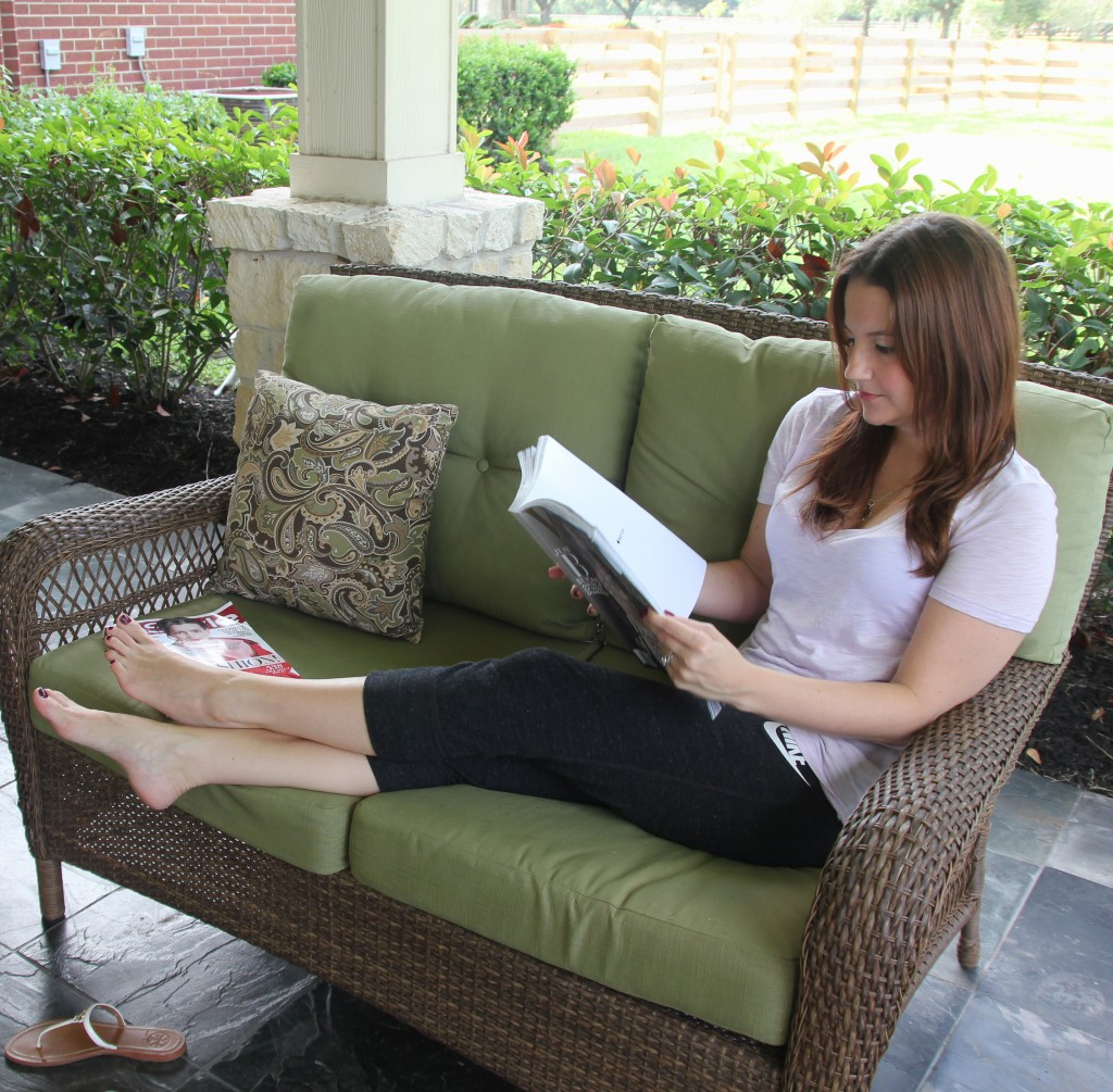 Lounging around the house in soft tees & capri pants | Lady in Violet