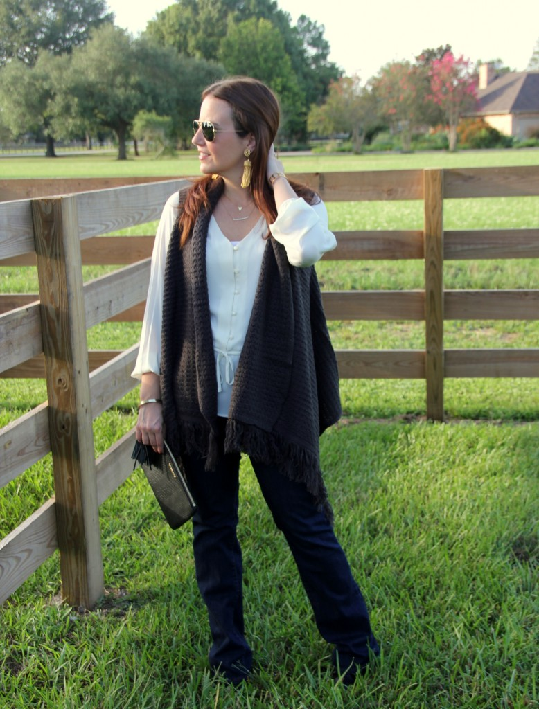 Casual Fall Outfit | Lady in Violet