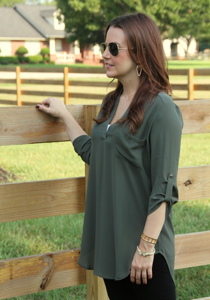Olive Tunic for Fall Style | Lady in Violet