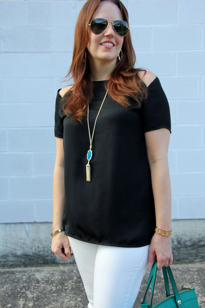 BB Dakota Top and Kendra Scott Pendant Necklace   Lady in Violet
