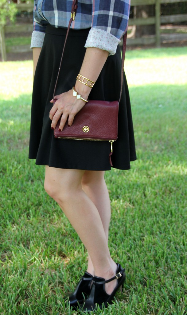 Flared Skirt and Black Booties | Lady in Violet